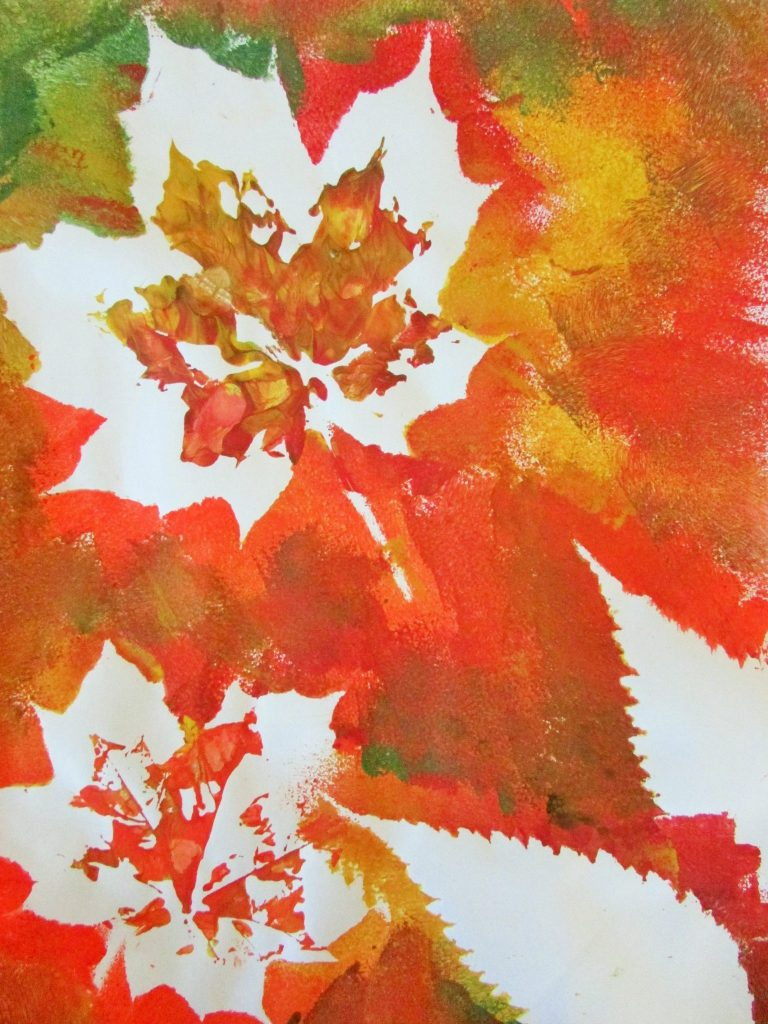 how to create push out leaves for scrapbooking