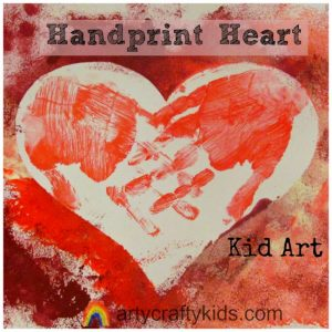 Arty Crafty Kids - Handprint Heart Kid Art