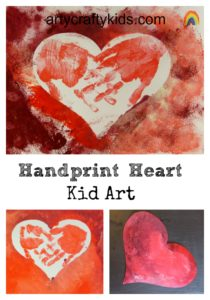 Arty Crafty Kids -Handprint Heart Kid Art