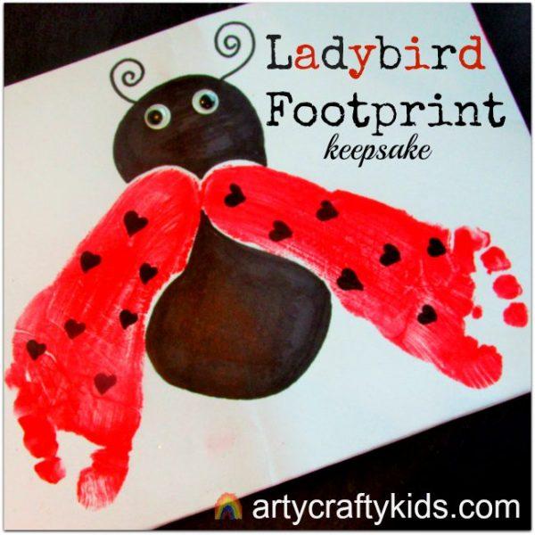 Arty Crafty Kids - Arty Crafty Kids - Footprint Ladybird Keepsake