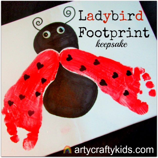 Arty Crafty Kids - Arty Crafty Kids - Footprint Ladybird Keepsake