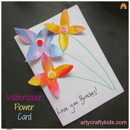 Arty Crafty Kids - Art - Watercolour Flower Card
