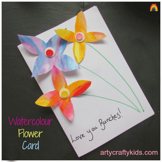Arty Crafty Kids - Art - Watercolour Flower Card