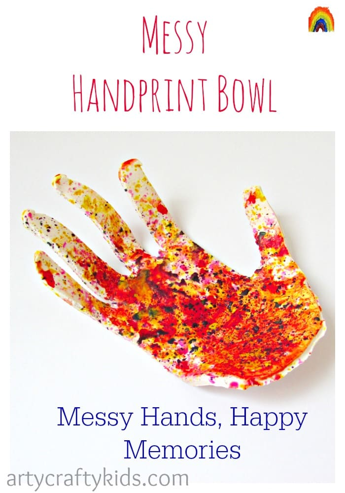 Arty Crafty Kids - Messy Handprint Bowl