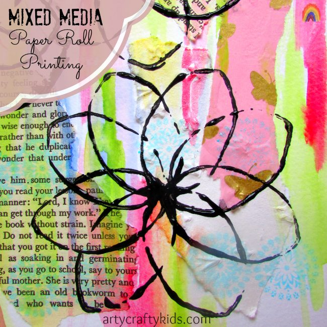 Arty Crafty Kids - Art - Mixed Media Paper Roll Printing