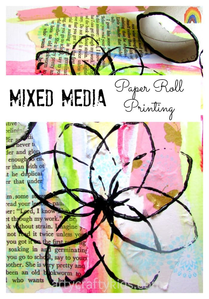 Arty Crafty Kids - Mixed Media Paper Roll Printing