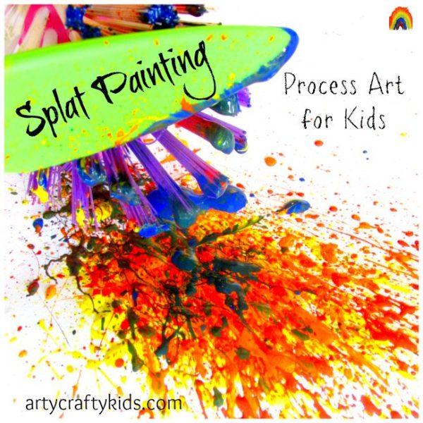 Arty Crafty Kids - Splat Painting