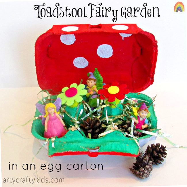 Arty Crafty Kids - Toadstool Fairy Garden in an Egg Carton
