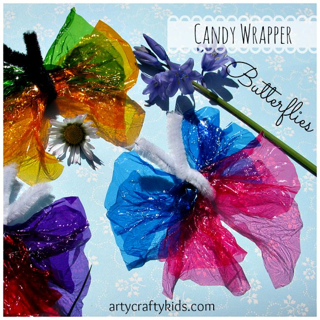 Arty Crafty Kids - Candy Wrapper Butterflies