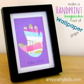 Arty Crafty Kids - Wallpaper Handprint Collage
