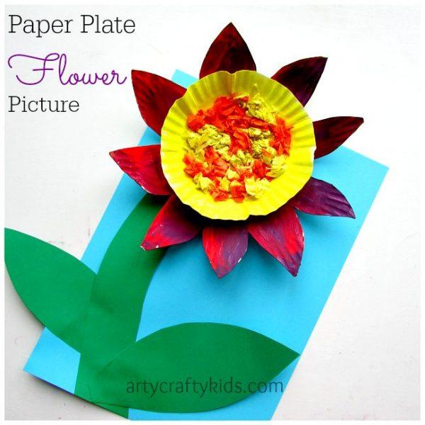 Paper plate flower mightylinksfo