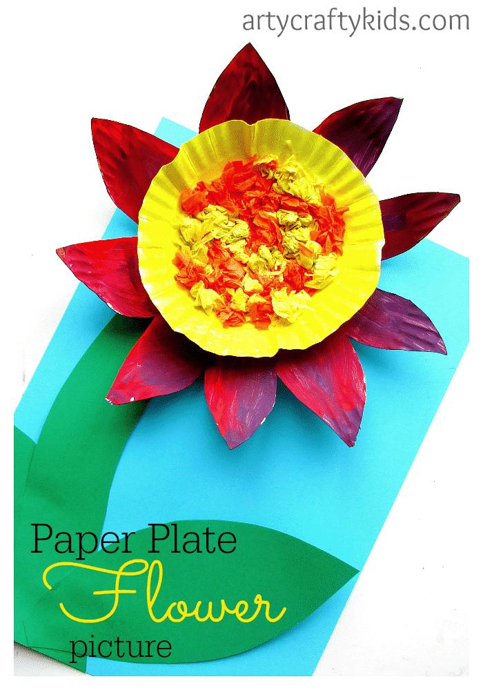 arty crafty kids craft paper plate flower