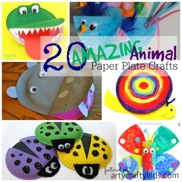 Arty Crafty Kids - Kid Craft - 20 Amazing Animal Paper Plate Crafts