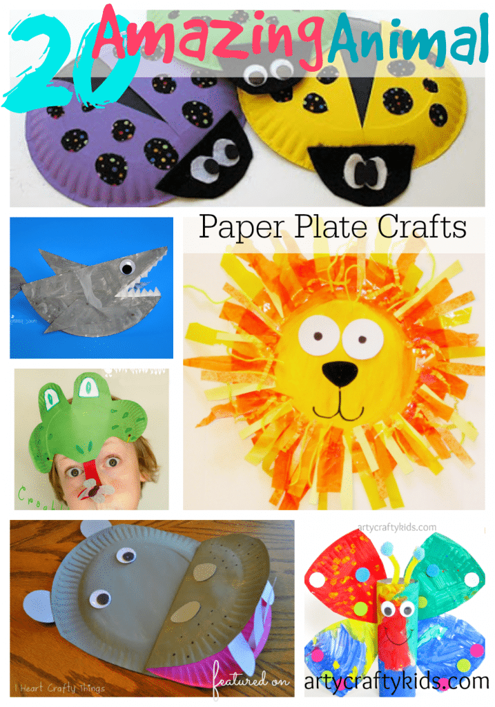 20 amazing animal paper plate crafts for Paper plate craft images