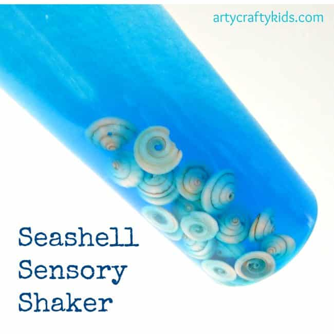 Arty Crafty Kids - Play - Seashell Sensory Shaker
