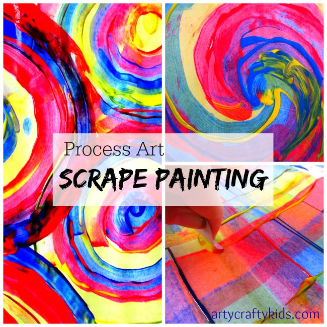Arty Crafty Kids - Art - Scrape Painting