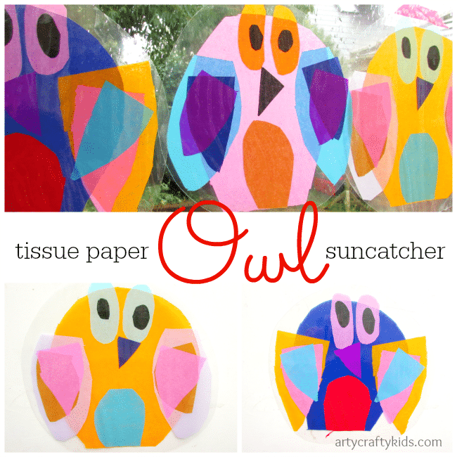 Arty Crafty Kids - Craft - Craft for Kids - Owl Suncatcher