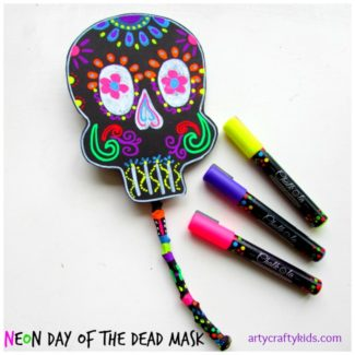Arty Crafty Kids - Craft - Craft Ideas for Kids - Day of the Dead Mask