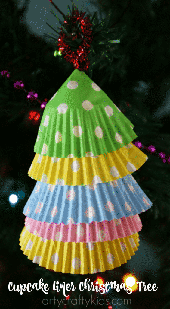 Arty Crafty Kids - Craft - Christmas Craft for Kids - Cupcake Liner Christmas Trees