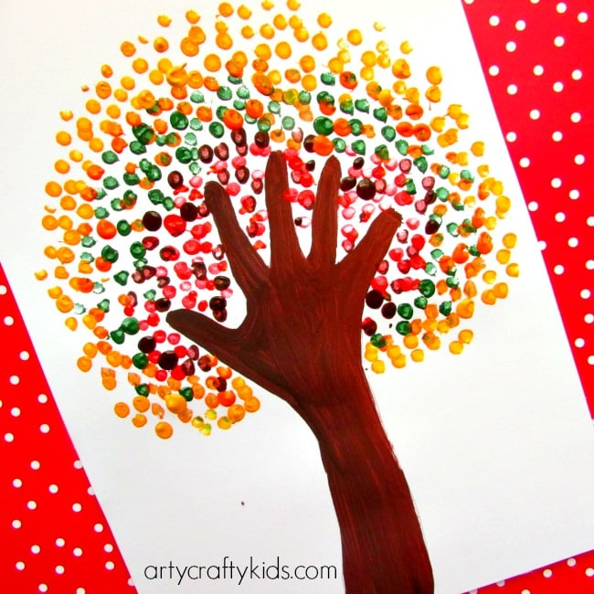 Autumn Handprint Tree Arty Crafty Kids