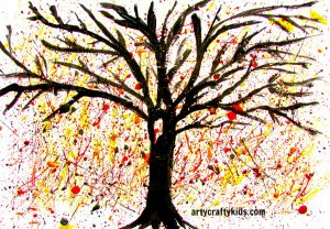 Arty Crafty Kids - Art - Art Ideas for Kids - Autumn Splatter Tree