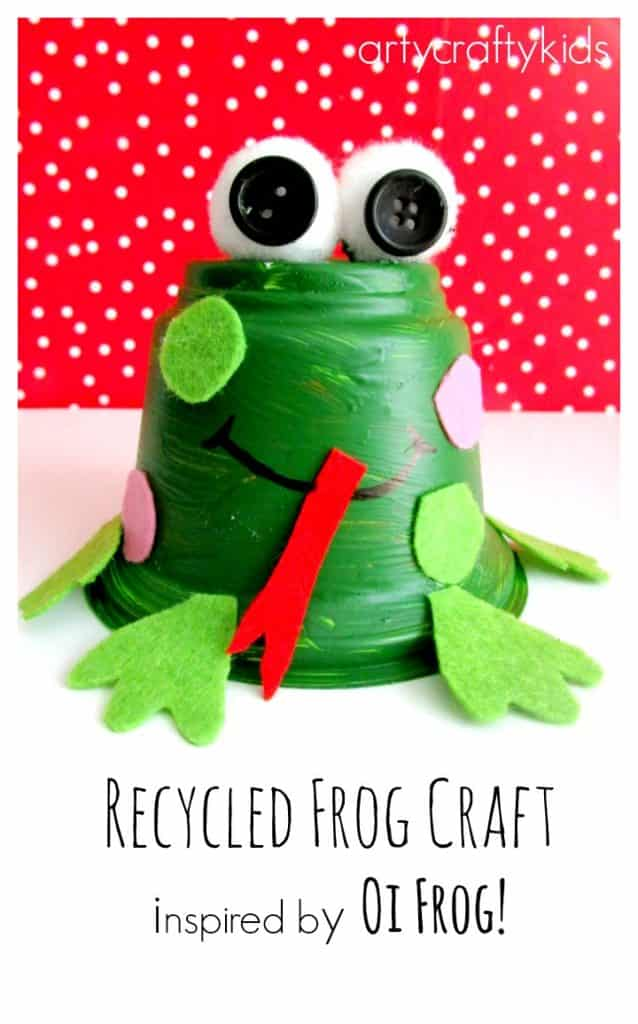 Arty Crafty Kids - Craft - Book-Club - Recycled Frog Craft for Kids