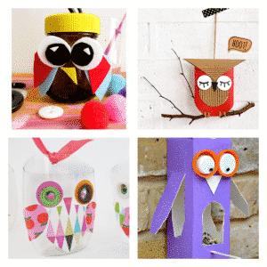 Arty Crafts Kids - Craft Ideas for Kids - 25 Owl Crafts for Kids | Owl Craft Jar, Toilet Roll Owl, Plastic Bottle Owl, Juice Carton Owl Bird Feeder