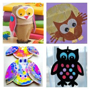 Arty Crafts Kids - Crafts - Craft Ideas for Kids - 25 Owl Crafts for Kids | Soda Bottle Zipper Owl Case, Handprint Owl, Paper Plate Owls, Sun Catcher Owl