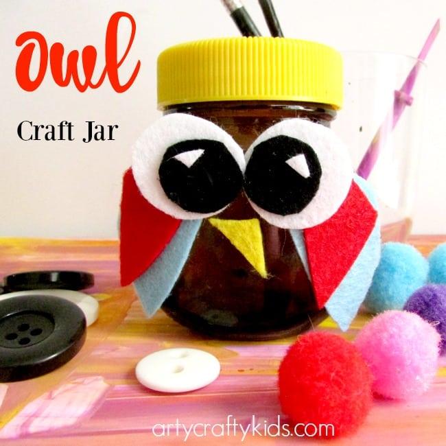 Recycle Owl Craft Jar Arty Crafty Kids