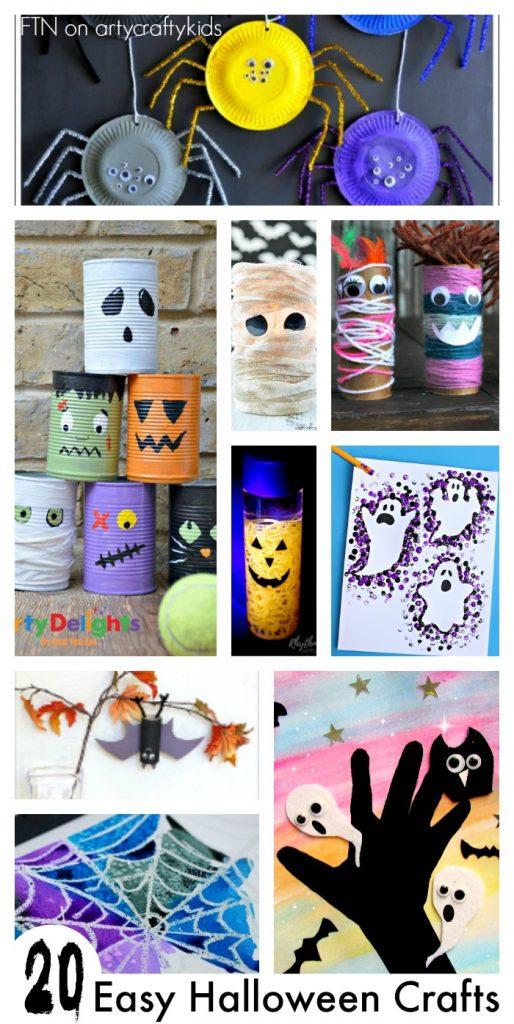 Easy Halloween Makeup: 20 Easy Halloween Crafts