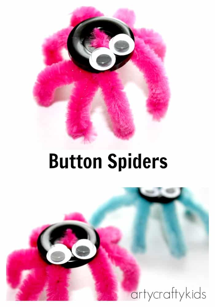 Arty Crafty Kids - Craft - Button Spider Easy Kids Craft