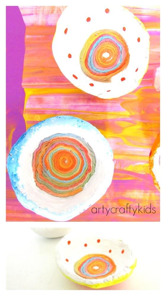 Arty Crafty Kids - Craft - Crafts for Tweens and Teens - Yarn Trinket Bowl