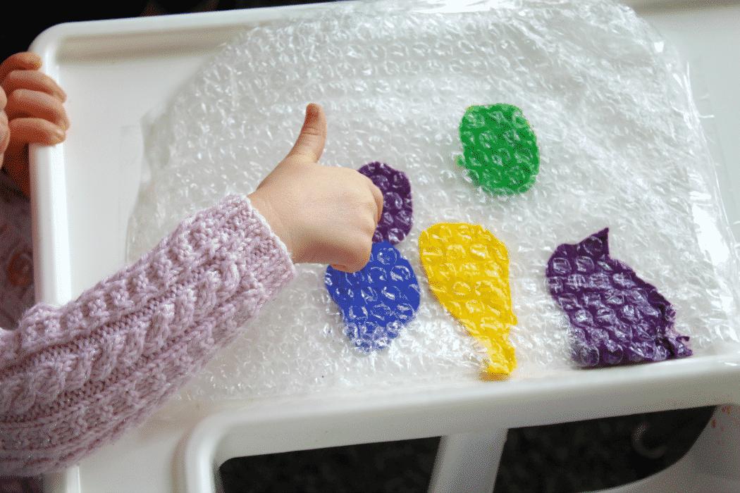 Baby Bubble Wrap Art Sensory Baby Toddler Activity Arty Crafty