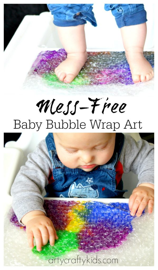 Baby Bubble Wrap Art - Sensory Baby & Toddler Activity