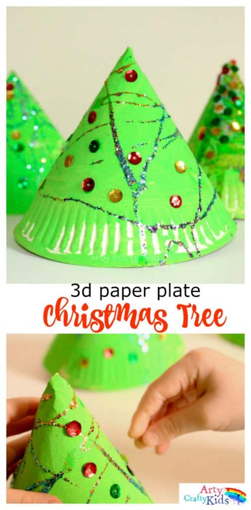 how to make 3d paper christmas bells