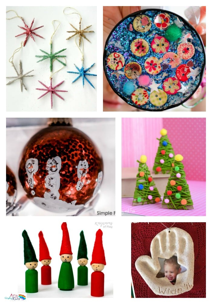 Arty Crafty Kids | 36 Awesome Christmas Ornaments - Fun to make and seasonably jolly christmas ornaments, decorations and keepsakes