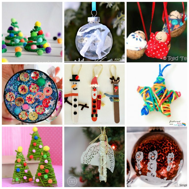 Arty Crafty Kids   36 Awesome Christmas Ornaments - Fun to make and seasonably jolly kids crafts christmas ornaments, decorations and keepsakes