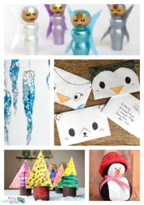 Arty Crafty Kids - Seasinal -16 Easy Winter Crafts for Kids - 16 Winter Kids Crafts for Kids. Choose from a selection of Winter animals, to snowy Winter trees and gorgeous snowflake art projects for kids to make this season.