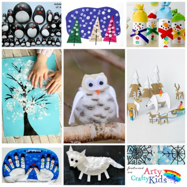 16 Easy Winter Crafts For Kids Arty Crafty Kids