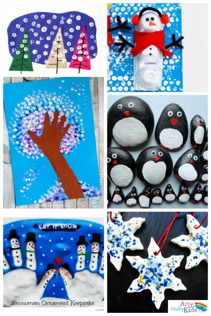 Easy Winter Crafts for Kids | Handprints, Penguins and Snowmen!