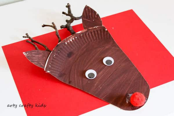 Paper Plate Rudolph Reindeer Craft Arty Crafty Kids