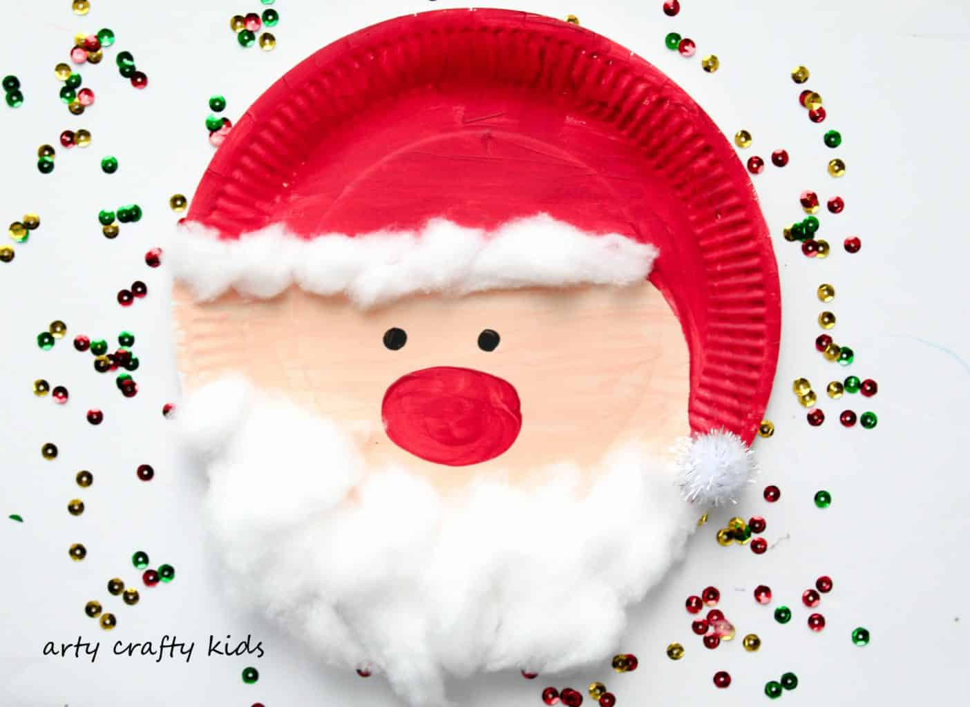 craft ideas for toddlers christmas paper plate santa arty crafty 6256