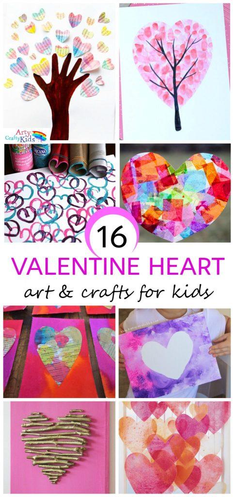 Arty Crafty Kids Valentines 16 Kids Valentine Heart Craft Ideas