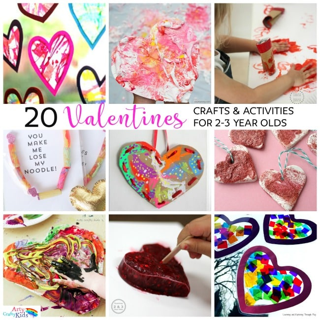 20 Valentines Preschool Crafts Activities Arty Crafty Kids