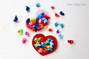 Toddler Valentines Heart Bouquet Arty Crafty Kids
