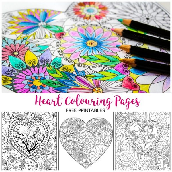 Arty Crafty Kids | Colouring Pages | Hearts | Heart Colouring Pages | Free Heart colouring pages for adults and kids! Colour to your hearts content with these gorgeous, detailed designs.