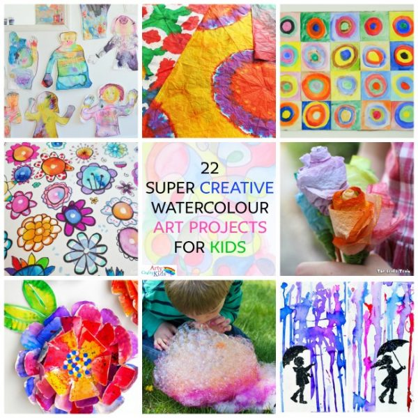 Creative Watercolor Art Projects For Kids