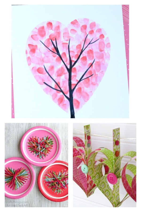 Arty Crafty Kids | Valentines | 16 Kids Valentine Heart Craft Ideas | A gorgeous collection of creative Heart Art and Craft ideas to celebrate Valentine's with the kids.