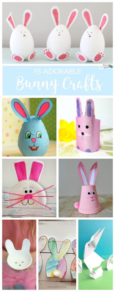 Arty Crafty Kids | Easter | Super Adorable Bunny Crafts | A gorgeous collection of easy and super adorable Easter bunny crafts for kids.