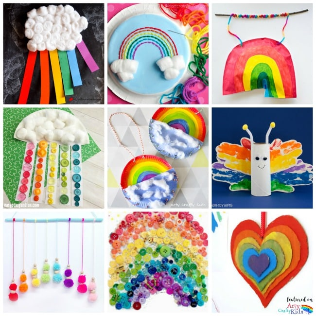 22 Rainbow Kids Crafts Arty Crafty
